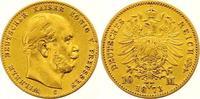 10 Mark Gold 1873  C Preußen Wilhelm I. 1861-1888. Sehr schön  200,00 EUR