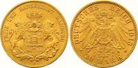20 Mark Gold 1913  J Hamburg  Winziger Randfehler, vorzüglich  325,00 EUR  zzgl. 7,00 EUR Versand
