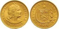 Libra Gold 1917 Peru Republik seit 1821. Vorzüglich  365,00 EUR  zzgl. 7,00 EUR Versand