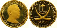 5000 Pesetas Gold 1970 Äquatorial Guinea Republik seit 1968. Polierte P... 3000,00 EUR