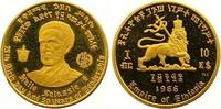 10 Dollars Gold 1966 Äthiopien Haile Selassi I. 1930-1936, 1941-1974. P... 165,00 EUR  zzgl. 7,00 EUR Versand