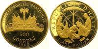 500 Gourdes Gold 1969 Haiti Republik nach 1863. Polierte Platte  3750,00 EUR