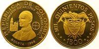 1500 Pesos Gold 1968 Kolumbien Republik seit 1886. Stempelglanz  2550,00 EUR