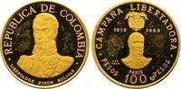 100 Pesos Gold 1969  NI Kolumbien Republik seit 1886. Kleine Kratzer, k... 170,00 EUR  zzgl. 7,00 EUR Versand