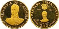 200 Pesos Gold 1969  NI Kolumbien Republik seit 1886. Kleine Kratzer, P... 340,00 EUR