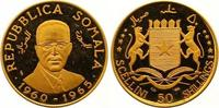 50 Shillings Gold 1966 Somalia Republik. Ab 1950. Winzige Kratzer, Poli... 290,00 EUR  zzgl. 7,00 EUR Versand