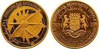 20 Shillings Gold 1970 Somalia Republik. Ab 1950. Polierte Platte  120,00 EUR  zzgl. 7,00 EUR Versand