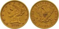 5 Dollars Gold 1895 Vereinigte Staaten von Amerika  Sehr schön  315,00 EUR  zzgl. 7,00 EUR Versand