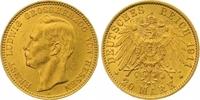 20 Mark Gold 1911  A Hessen Ernst Ludwig 1892-1918. Winzige Kratzer, vo... 575,00 EUR  zzgl. 7,00 EUR Versand