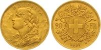 20 Franken Gold 1897 Schweiz-Eidgenossenschaft  Vorzüglich  250,00 EUR  zzgl. 7,00 EUR Versand