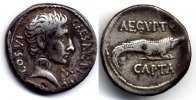 Roman Empire / Rmische Kaiserzeit Denarius / Denar Augustus - AEGYPTO CAPTA