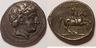 AR 1/5 tetradrachm / tetradrachme  Makedonien / Macedon Philipp II. 359... 475,00 EUR  zzgl. 12,00 EUR Versand