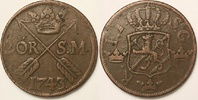 2 öre SM 1743 Sweden / Schweden Fredrik I / Friedrich von Hessen fast S... 40,00 EUR  zzgl. 8,00 EUR Versand