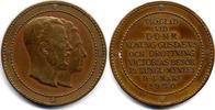 Bronzmedaille 1920 Schweden / Sweden Gustav V und Viktoria von Baden - ... 120,00 EUR  zzgl. 10,00 EUR Versand