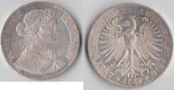 Doppeltaler 1862 Altdeutschland, Frankfurt Freie Stadt Frankfurt vz-  145,00 EUR  zzgl. 6,20 EUR Versand