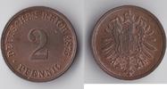 2 Pfennig 1875 G Deutsches Reich Kursmünze vz-st  95,00 EUR  plus 6,90 EUR verzending