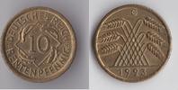 10 Rentenpfennig 1923 G Deutsches Reich - Weimar Kursmünze fast vz  35,00 EUR  plus 5,50 EUR verzending