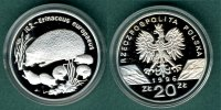 Polen 20 Zlotych 1996 PP Igelfamilie 179,00 EUR 
