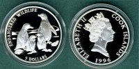 Cook Islands 5 Dollars Brillenpinguine