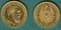 Preussen 10 Mark 1888 A ss/vz Friedrich III. 279.51 US$
