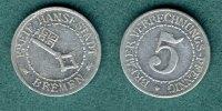 5 Bremer Verrechnungs-Pfennig 1924 Bremen Notmünze ss  14,50 EUR