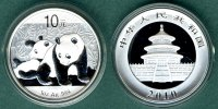 China 10 Yuan 2010 stgl. Panda   1 oz. Ag   37,90 EUR