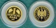 1 Deutsche Mark 2001 F Bundesrepublik Goldmark zum Abschied der DM stgl.  515,00 EUR  + 9,90 EUR frais d'envoi