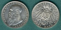 Sachsen-Meiningen 3 Mark 1908 D vz/stgl. Georg II. 229,00 EUR 