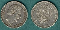 Bayern 5 Mark 1876 D ss/vz Ludwig II. 89,00 EUR 