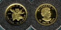 Canada 50 Cents 2004 PP Elch  1/25 oz. Au 89,00 EUR 