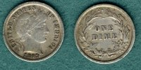 One Dime 1897 USA Barber Type ss, Kratzer  7,90 EUR  +  5,90 EUR shipping