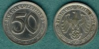 Drittes Reich 50 Reichspfennig 1939 G ss/vz J.365 69,00 EUR 