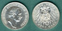 Sachsen 5 Mark 1914 E vz/stgl. Friedrich August III. 119,00 EUR 