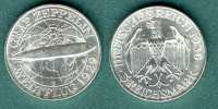 Weimarer Republik 3 Reichsmark 1930 E vz+ Graf Zeppelin 99,00 EUR 
