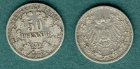 Kaiserreich 50 Pfennig 1902 F ss J.15 369,00 EUR 