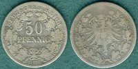 50 Pfennig 1877 H Kaiserreich J.8 s/ss  39,00 EUR  +  5,90 EUR shipping