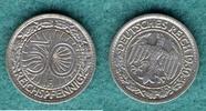 50 Reichspfennig 1930 F Weimarer Republik J.324 vz  89,00 EUR  + 6,90 EUR frais d'envoi