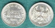 3 Reichsmark 1924 F Weimarer Republik J.312 vz+  59,00 EUR