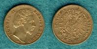 10 Mark 1873 D Bayern Ludwig II. ss  235,00 EUR  + 6,90 EUR frais d'envoi