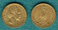 20 Mark 1872 D Bayern Ludwig II. ss+  335,00 EUR  + 9,90 EUR frais d'envoi