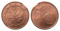 Bundesrepublik Deutschland Deutschland 5 Cent mit kl. Zainende