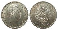 5 Mark Bayern 1875 D Kaiserreich  wz. Rf., Bildseite vz, Adlerseite vz+  495,00 EUR kostenloser Versand