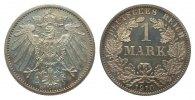 Kaiserreich 1 Mark 1910 A polierte Platte