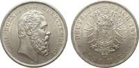 5 Mark Württemberg 1876 F Kaiserreich  wz. Kr., vorzüglich / Stempelgla... 1195,00 EUR kostenloser Versand