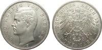 5 Mark Bayern 1893 D Kaiserreich  Bildseite vz/St, Adlerseite f.St  795,00 EUR