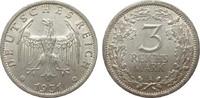 3 Mark Kursmünze 1931 A Weimarer Republik  vorzüglich  315,00 EUR