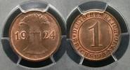 1 Pfennig 1924 E PCGS certified  PCGS MS 65 RB  1250,00 EUR kostenloser Versand