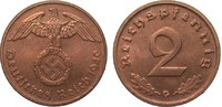2 Pfennig 1940 G PCGS certified  PCGS MS 65 RD  595,00 EUR kostenloser Versand