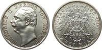 2 Mark Anhalt 1904 A Kaiserreich  Bildseite wz. Haarlinien, fast Stempe... 995,00 EUR