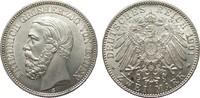 2 Mark Baden 1901 G Kaiserreich  Bildseite vz/St, Adlerseite f.St  895,00 EUR kostenloser Versand